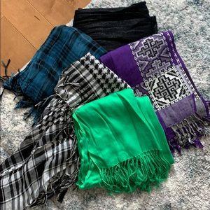 Bundle - 5 scarves EUC